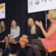 Faye on the speaker panel at People Per Hour event