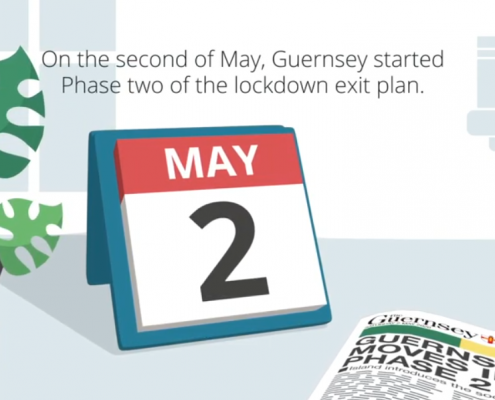 video voiceover for Guernsey lockdown exit plan